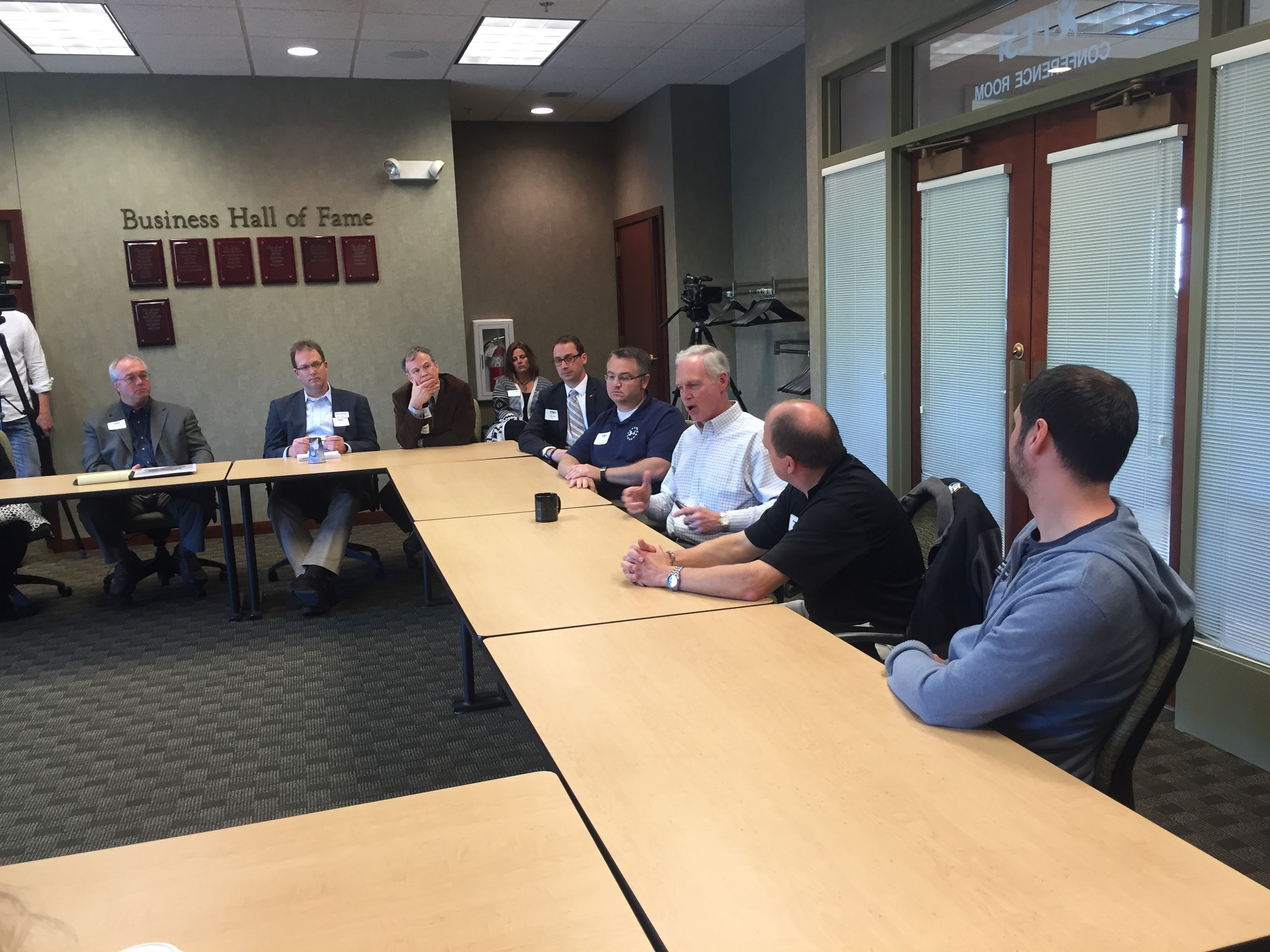 #RonOnTheroad: Ron Johnson at the Eau Claire Chamber of Commerce Talking Jobs